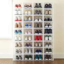 men u0027s drop front shoe box the container store