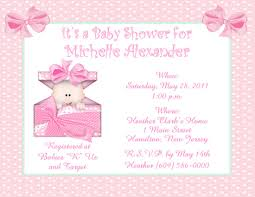 Baby Shower Invitation Cards Baby Shower Invitations Girls Theruntime Com