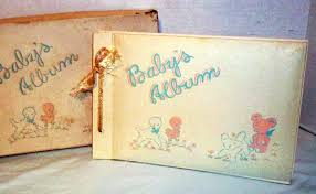 Vintage Scrapbook Album Vintage New In Box 1950 U0027s Baby Photo Album And Scrapbook