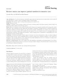 review nurses can improve patient nutrition in intensive care