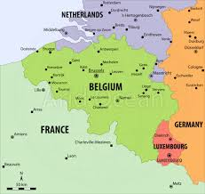 map of begium belgium political map major tourist attractions maps
