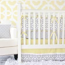 Yellow And Gray Crib Bedding Set Mod Lattice Crib Bedding Set In Yellow And Gray By Caden