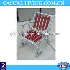 Vintage Aluminum Folding Chairs Vintage Aluminum Folding Redwood Wood Slat Lawn Rocking Chair