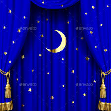 Studio Curtain Background Blue Curtain By Romay Graphicriver