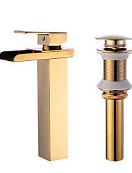 Centerset Waterfall Faucet Gold Bathroom Faucets Lightinthebox Com