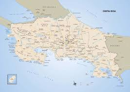 Map Costa Rica Large Political Map Of Costa Rica With Roads Major Cities And