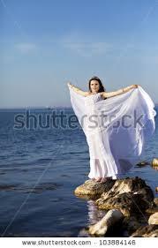 beautiful slim bride wedding dress on stock photo 103885058