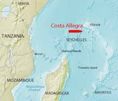 Seychelles Map Second Costa Ship In Distress Motor Boat U0026 Yachting