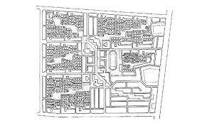 aranya community housing b u0026w drawing site plan archnet