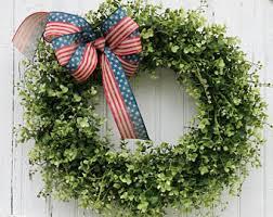 Fourth Of July Door Decorations Patriotic Wreath Etsy