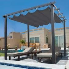 pergola avec toile retractable idmarket pergola toit rétractable gris tonnelle 4 pieds 3x3m