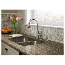 moen terrace kitchen faucet moen ca87055srs single handle kitchen faucet with pullout spray