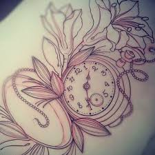 27 best tattoos pocket watches images on pinterest flowers