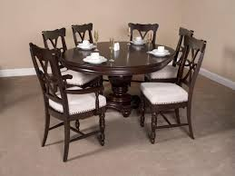 Round Pedestal Dining Room Table Espresso Round Pedestal Dining Table Modern Round Pedestal