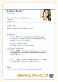 resume for application format 10 sle cv for application pdf basic appication letter