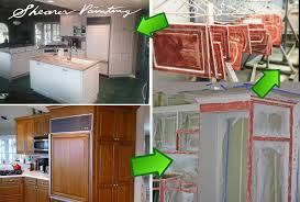 how to paint wood grain cabinets can you fill wood grain on painted cabinets house
