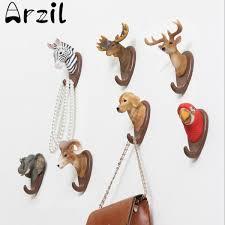 adhesive wall hooks cosmopolitan resin animals deer antlers wall hanging hook hanger