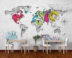 World Map Mural Aliexpress Com Buy Beibehang Wallpaper Mural Living Room Bedroom