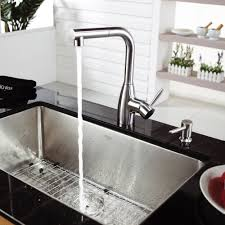 Stainless Steel Faucets Kitchen by Stainless Steel Kitchen Sink Combination Kraususa Com