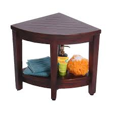 Teak Benches For Showers Amazon Com Oasis Fully Assembled Teak Corner Shower Bench With