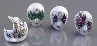 porcelain mardi gras masks dollhouse mardi gras carnival masks reutter porcelain miniatures 1
