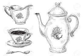 vintage tea set tea set vector of vintage tea and coffee cups isolated royalty