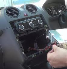 how to replace a 2005 2010 vw caddy radio head unit car stereo
