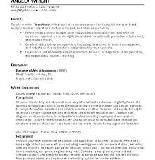 Sample Of Resume For Receptionist by Outstanding Sample Resume For Receptionist 10 For Secretary Cv