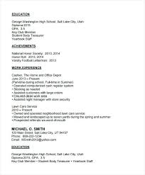 exle resume for blank high school student resume templates no work experience