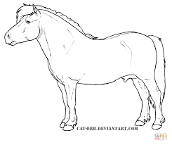 shetland pony coloring page free printable coloring pages