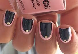 diy easy border nail art no tools needed youtube