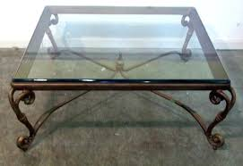 round glass top coffee table with metal base furniture square glass top coffee table with metal legs metal and