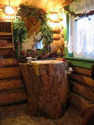 awesome log cabin bathroom decorating ideas rustic with natural