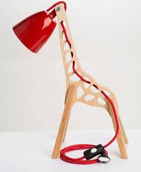 Red Desk Light Giraffe Shaped Desk Lamps For Kids Room Home Design And Interior