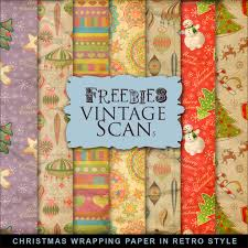 retro wrapping paper freebies kit of christmas wrapping paper in retro style far far