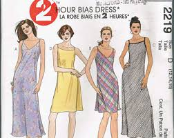 bias dress pattern etsy