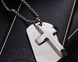 engraved dog tag necklace engraved dog tag etsy