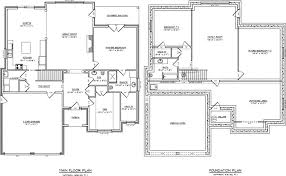 house plan with basement awesome one level house plans with basement new home plans design
