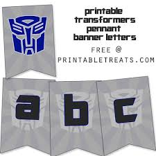 printable transformers birthday banner free transformers birthday banner birthday ideas pinterest