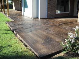 Concrete Stain Colors For Patios Concrete That U0027s Been Stamped And Stained To Look Like Hardwood
