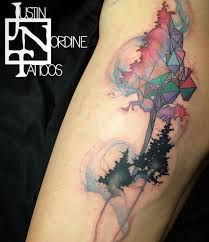 watercolor tattoos geometric watercolor tattoo and watercolors on
