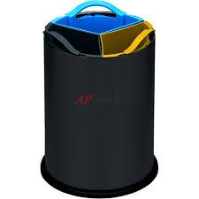 poubelle de cuisine tri s駘ectif 3 bacs 3 bacs tri sélectif 12 litres acier noir