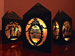 paper bag luminaries halloween handmade papercut lantern luminary disney u0027s haunted mansion