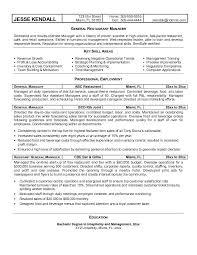 Assistant Manager Resume Examples Restaurant Manager Resume Sample Berathen Com