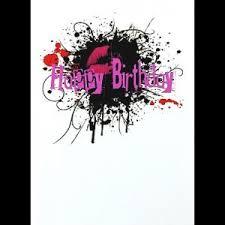 gothic punk birthday card ink splat gothic cards u0026 gifts