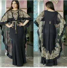 arab wrap arabic dubai kaftan prom dresses evening dresses with wrap cape