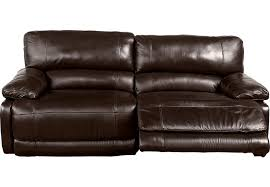 Recliner Sofas Home Auburn Brown Leather Reclining Sofa