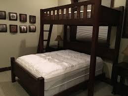 Custom Bunk Beds Texas Bunk Bed Twin Over Queen Rustic - Queen bed with bunk over