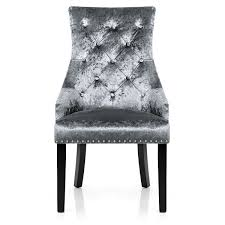 ascot dining chair grey velvet amazon co uk kitchen u0026 home
