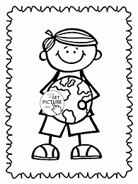 save the earth celebrate earth day coloring page for kids